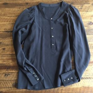 J.Crew Black Silk Shirt